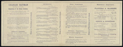 Brochure for C. Hayman, South London Costume Manufactory 5190a (verso)